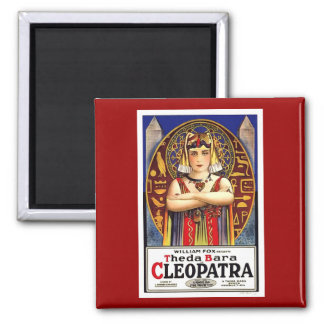 Theda Bara as Cleopatra Vintage Movie Square Magnet