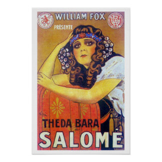 Theda Bara Salome Movie Poster