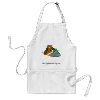 TheDogAndTheFrog.com Cartoon Beagle Frog Story Aprons