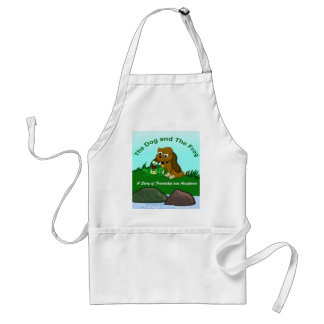 TheDogAndTheFrog.com Cartoon Story Gifts Adult Apron