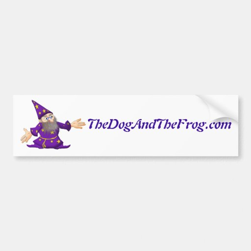 TheDogAndTheFrog.com Cartoon Story Gifts Wizard Bumper Stickers