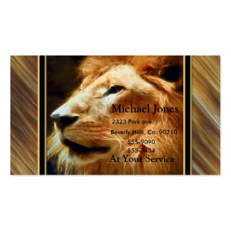 Thee Majestic Lion Business Card Template