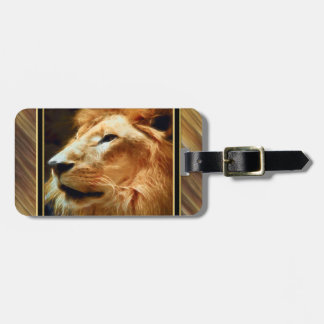 Thee Majestic Lion Luggage Tag
