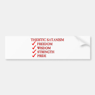 Theistic Satanism/Luciferianism Devotion Bumper Sticker
