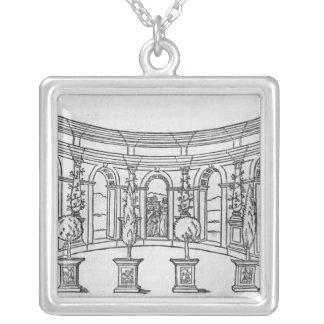 Theleme Abbey Silver Plated Necklace