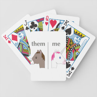 Them vs Me Donkey vs Unicorn funny Bicycle Playing Cards