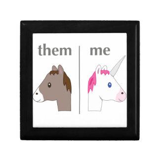 Them vs Me Donkey vs Unicorn funny Gift Box