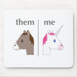 Them vs Me Donkey vs Unicorn funny Mouse Mat