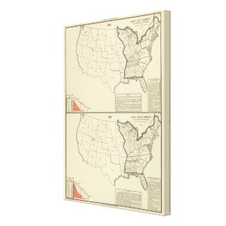 Thematic United States Canvas Print