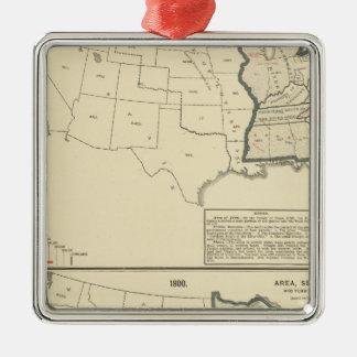 Thematic United States Silver-Colored Square Decoration