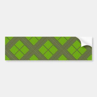Theme GREEN Shades Diamond Windows Bumper Stickers