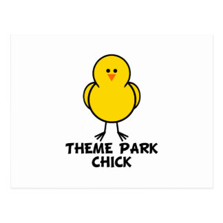 Theme Park Chick Postcard
