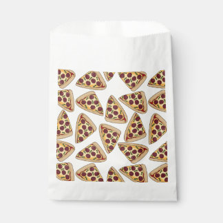 Themed pizza party favor bags