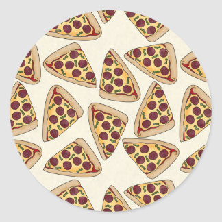Themed pizza party pattern sticker