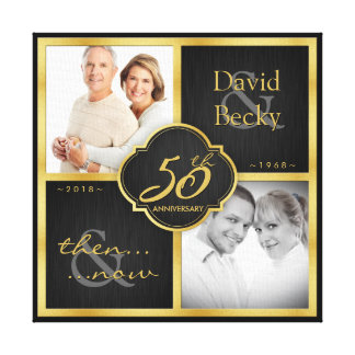 Then and Now 50th Wedding Anniversary - 2018 Canvas Print