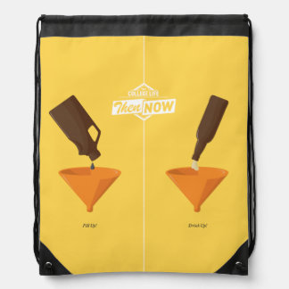 Then And Now: Beer Pong Drawstring Bag
