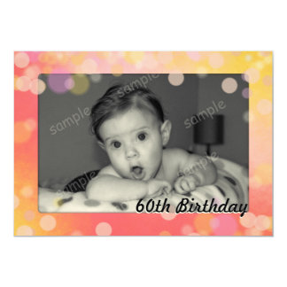 Then and Now Older Woman Photo Birthday 13 Cm X 18 Cm Invitation Card