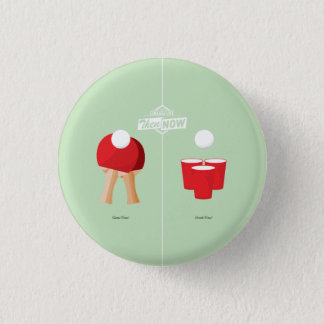 Then And Now: Ping Pong 3 Cm Round Badge