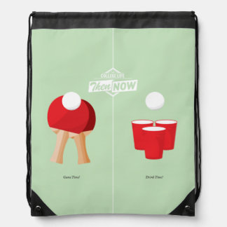 Then And Now: Ping Pong Drawstring Bag