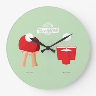 Then And Now: Ping Pong Large Clock