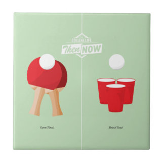 Then And Now: Ping Pong Small Square Tile
