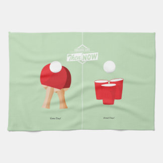 Then And Now: Ping Pong Tea Towel