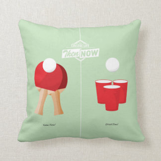 Then And Now: Ping Pong Throw Pillow