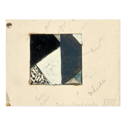Theo Doesburg:Studie voor Contra compositie XVIII Post Cards