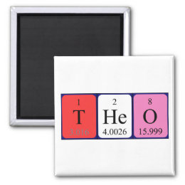 Theo name gifts on zazzle uk theo periodic table name magnet urtaz Image collections