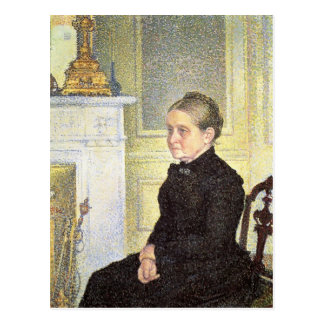 Theo Rysselberghe- Portrait of Madame Charles Maus Postcards
