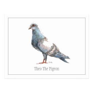 Theo The Pigeon Postcard