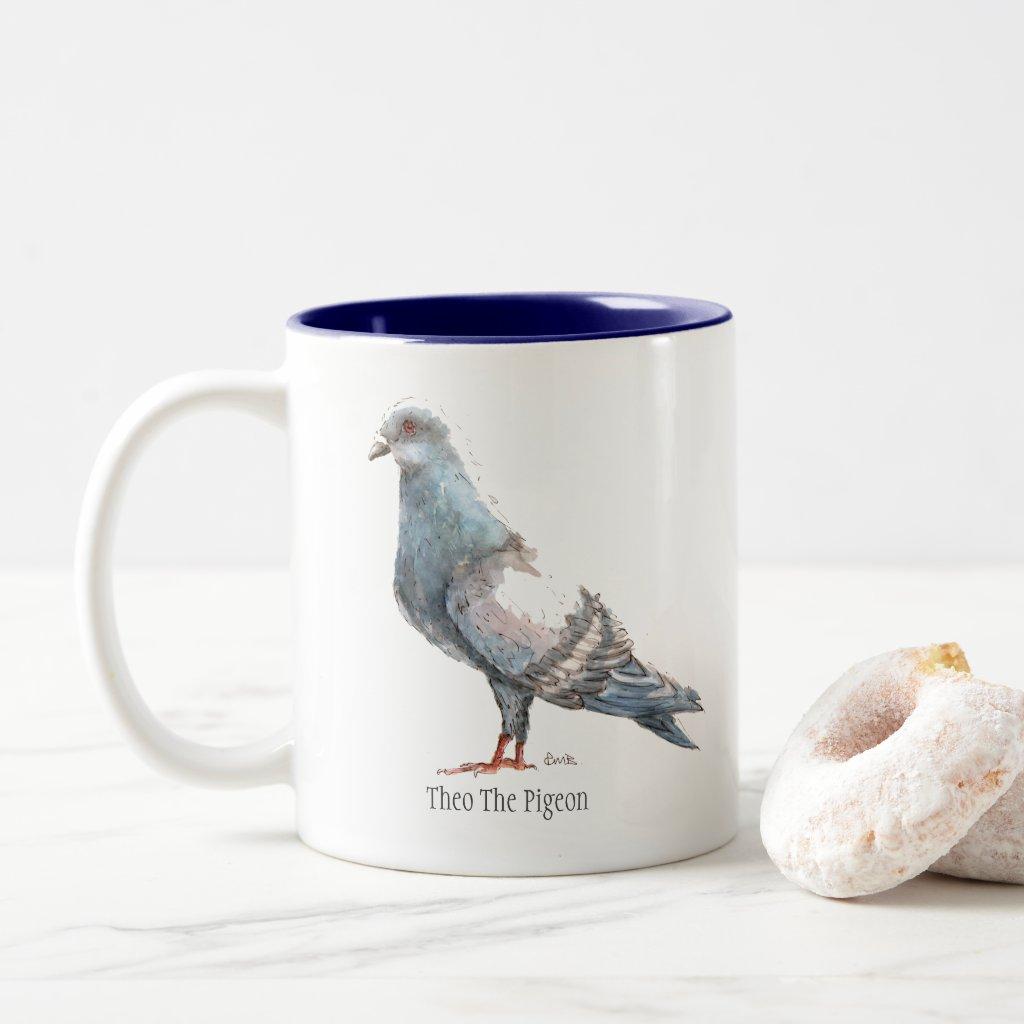 Theo The Pigeon Two Toned Mug