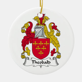 Theobald Family Crest Christmas Ornament