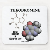 Theobromine (Chemical Molcule) Active Ingredient Mouse Pads