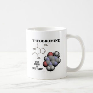 Theobromine (Chemical Molcule) Active Ingredient Mugs