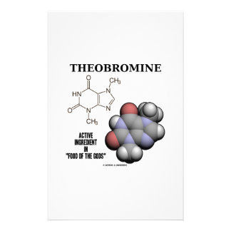 Theobromine Chocolate Molecule Active Ingredient Stationery