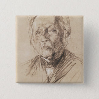 Theodor Fontane, 1896 15 Cm Square Badge