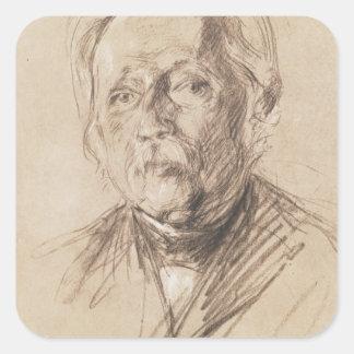 Theodor Fontane, 1896 Square Stickers