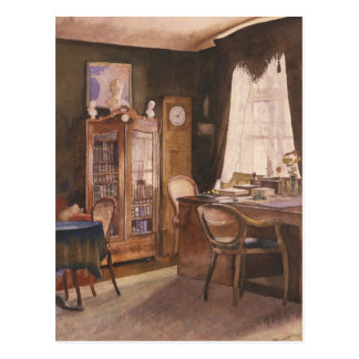 Theodor Fontane's Study Postcard