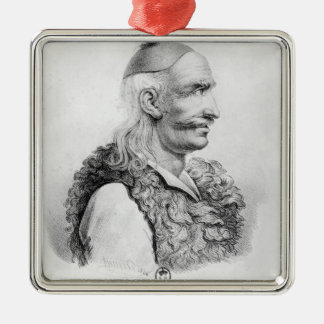 Theodore Kolokotronis  engraved by Alois Silver-Colored Square Decoration