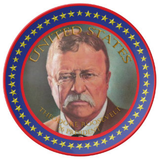Theodore Roosevelt 26th President Plate