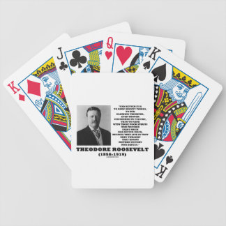 Theodore Roosevelt Dare Mighty Things Quote Poker Deck