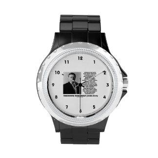 Theodore Roosevelt Fanatics Lunatic Fringe Quote Wristwatches