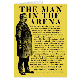 Theodore Roosevelt 'Man In The Arena' Speech Card