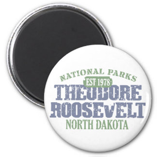 Theodore Roosevelt National Park 6 Cm Round Magnet