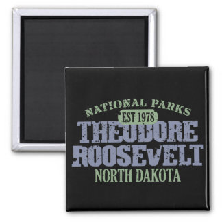 Theodore Roosevelt National Park Square Magnet