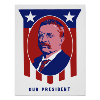 Theodore Roosevelt -- Our President Poster