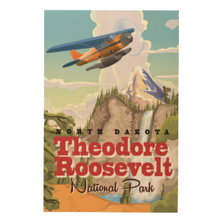 Theodore Roosevelt Park vintage travel poster