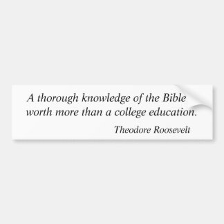 Theodore Roosevelt Quotes 3 Bumper Sticker