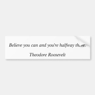 Theodore Roosevelt Quotes 8 Bumper Stickers